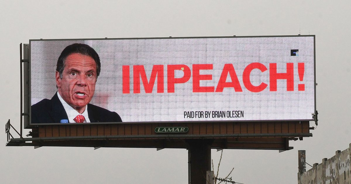 wwwweeee.jpg?resize=412,232 - Giant Billboard Calls For Gov. Cuomo's Impeachment Over Nursing Home Scandal