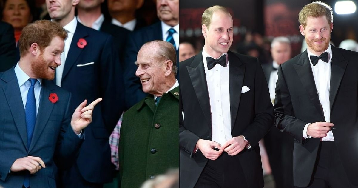 1 55.jpg?resize=412,232 - Princes Harry And William Will Stand And Walk Together Behind Their Grandfather's Coffin In A Week's Time
