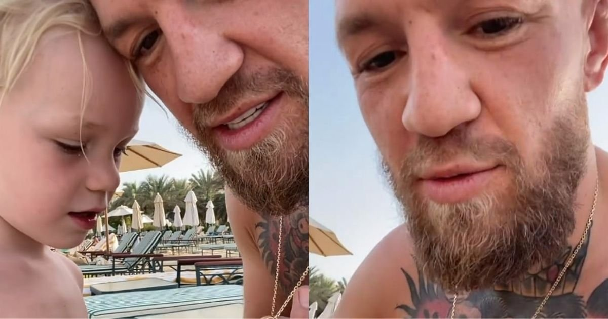 1 67.jpg?resize=412,232 - Conor McGregor Left People Horrified After He Urges His 3-Y.O Son To Punch A Kid In The Mouth