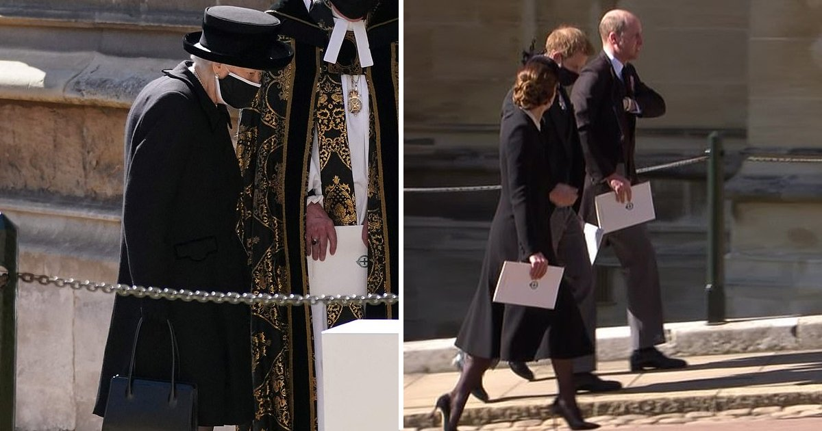 133.jpg?resize=1200,630 - The Queen Couldn't Face Going Into Prince Philip's Funeral Alone- Reactions Of Royals Revealed By Body Language Expert