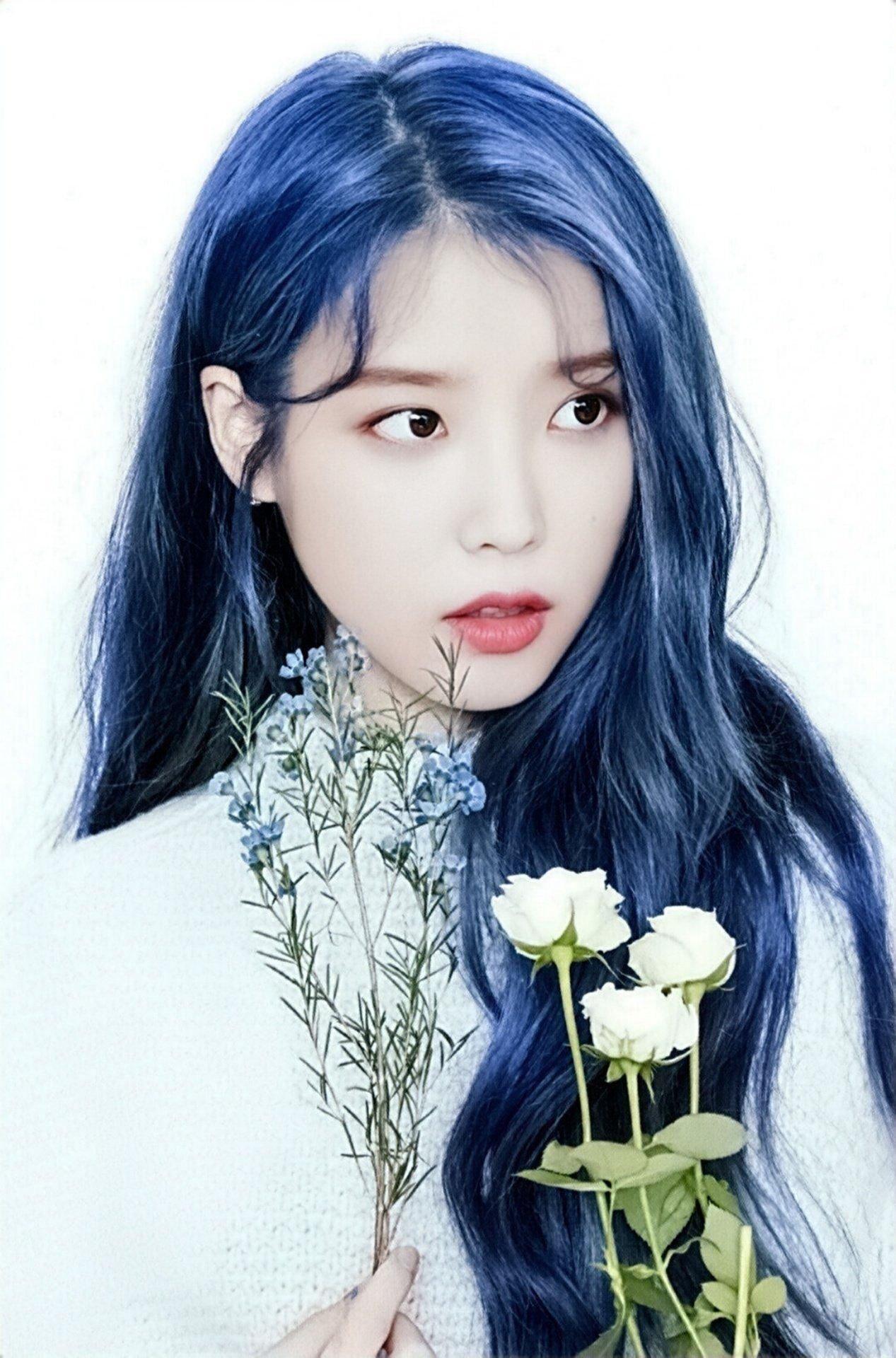 내별? on Twitter | Iu hair, Blue hair, Purple hair