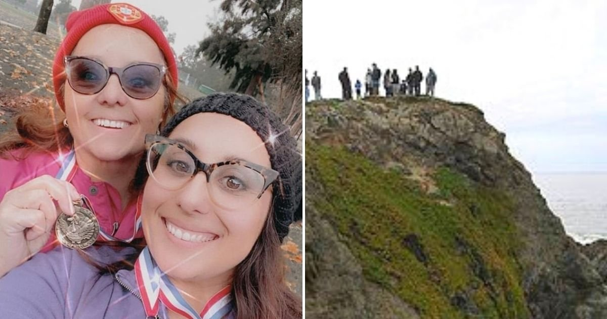 car6.jpg?resize=1200,630 - 64-Year-Old Mother And Her Daughter, 41, Are Killed In Front Of Dozens Of People After Their Car Plunged Off 100ft Cliff