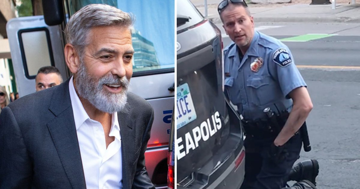 dfdfdfdfds.jpg?resize=412,232 - 'If Derek Chauvin Is So Confident, He Should Let Someone Kneel On His Neck' - George Clooney
