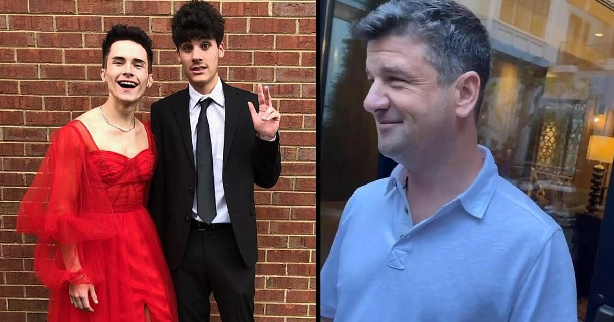 dress 1.png?resize=1200,630 - Homophobic Tennessee CEO Picks On Teenage Boy For Wearing A Dress To His Prom, Harassing Him Verbally For His Clothing Choices