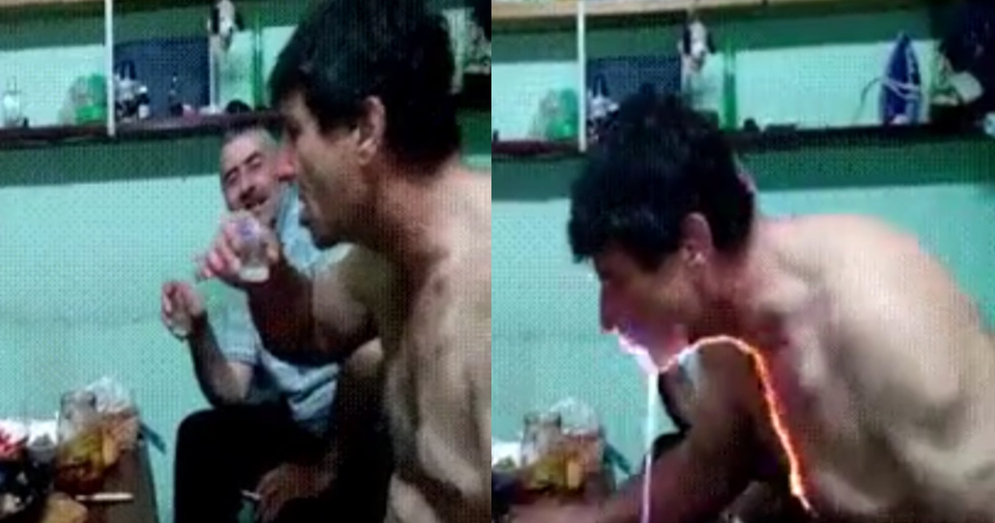 flaming.jpg?resize=1200,630 - A Video Of A Man's Throat Burning After Drinking A 96-Percent Alcohol Goes Viral
