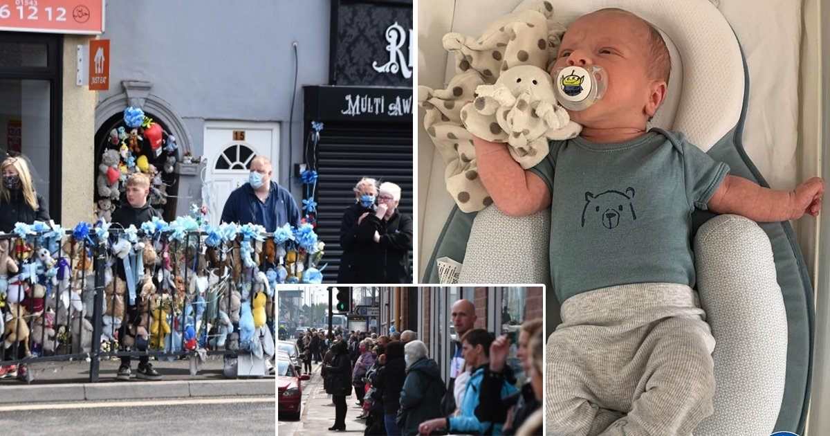 gddgdgdgd.jpg?resize=1200,630 - Hundreds Line Streets To Bid '2-Week-Old' Baby Farewell Who Was Killed By Motorist That Slammed Into His Pram