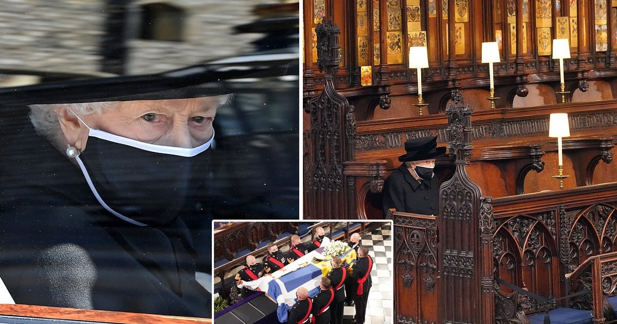 gsgsgs.jpg?resize=412,232 - The Queen Wipes Away A Tear As She Sits Alone At Her Beloved Prince Philip's Funeral