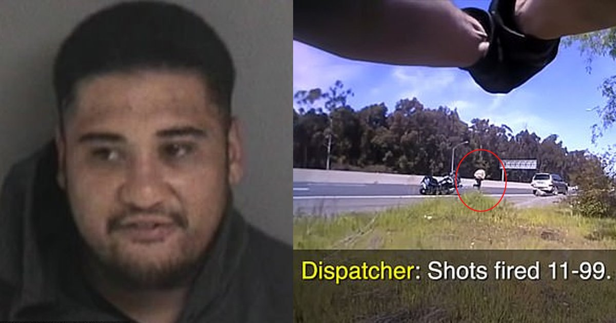 gun thumb 1.png?resize=1200,630 - BREAKING NEWS: Video Footage Of Menacing Criminal Being Chased For 30 Yards And Shot DEAD By California Officer On Patrol