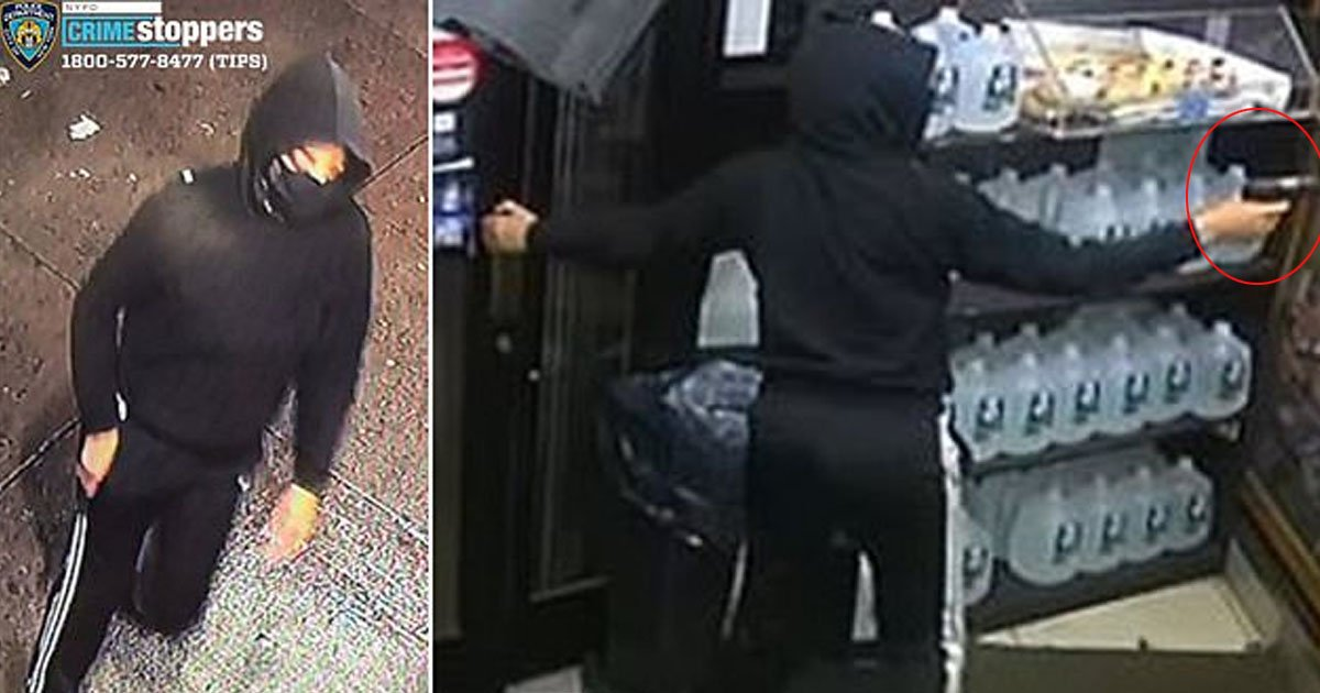 gun thumb.jpg?resize=412,232 - Surveillance Footage Reveals Shocking Details Of A Woman Shooting NYC Deli Employee While Walking Out Unscathed