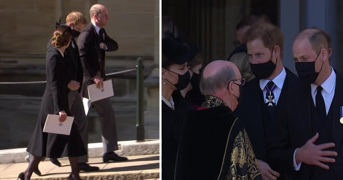jjjj.jpg?resize=412,232 - Prince Harry & Prince William Reunite For The First Time At Prince Philip's Funeral In Windsor
