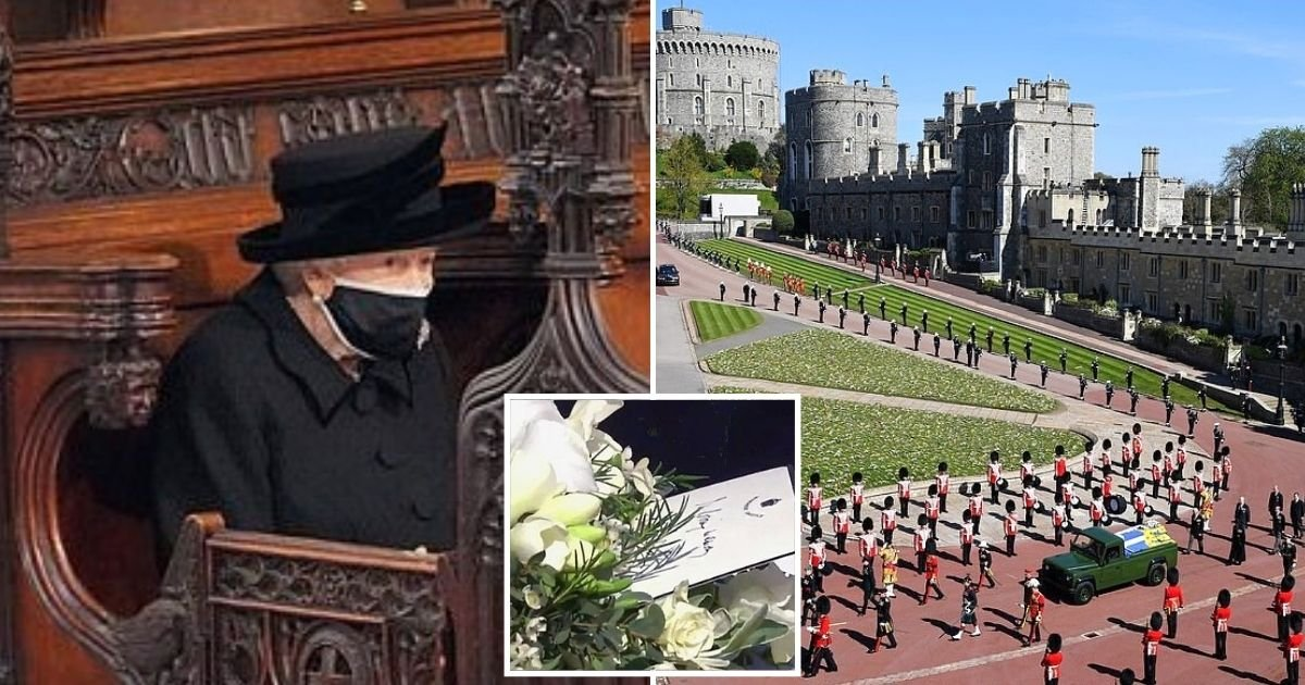 note9.jpg?resize=412,275 - The Queen's Final Goodbye To Husband Prince Philip: She Leaves Handwritten Note On His Coffin Alongside Roses And Lilies