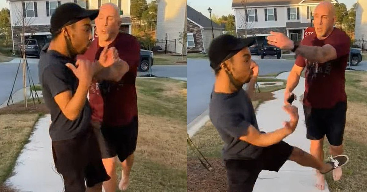"""push.png?resize=412,232 - Army Sergeant Under Investigation For SHOVING Black Kid Around, Exclaiming """"You Came To The Wrong Hood Motherf**ker!"""""""