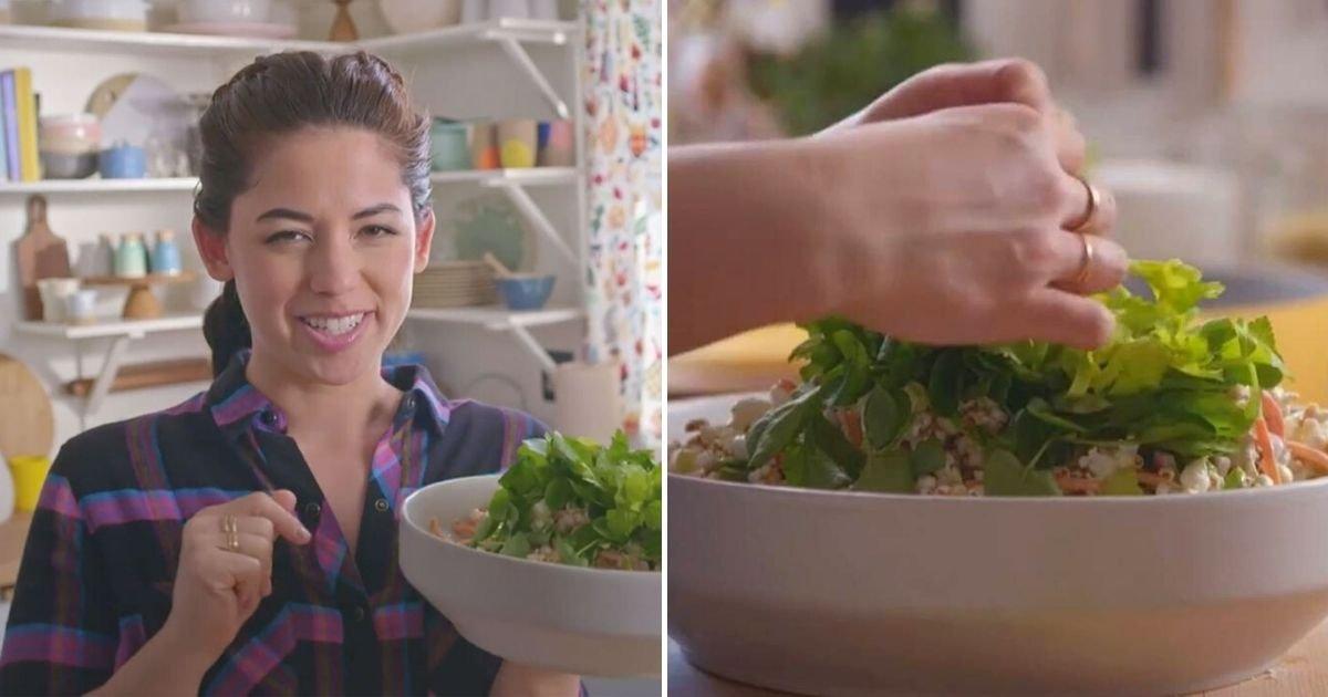 salad5.jpg?resize=412,232 - Woman Sparks Outrage After Presenting Her 'Popcorn Salad' On Food Network Show
