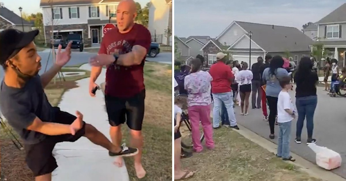 sdfsfsf.jpg?resize=412,232 - BLM Protesters Rally Outside & Vandalize Jonathan Pentland's Home After Video Goes Viral