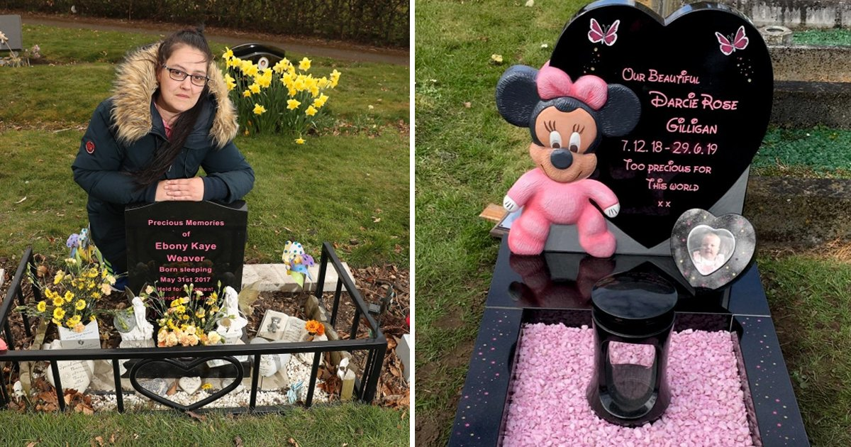 t7 5.jpg?resize=1200,630 - Grieving Mum Shattered As Council Orders Love Hearts & Angel Removal From Her Baby's Grave