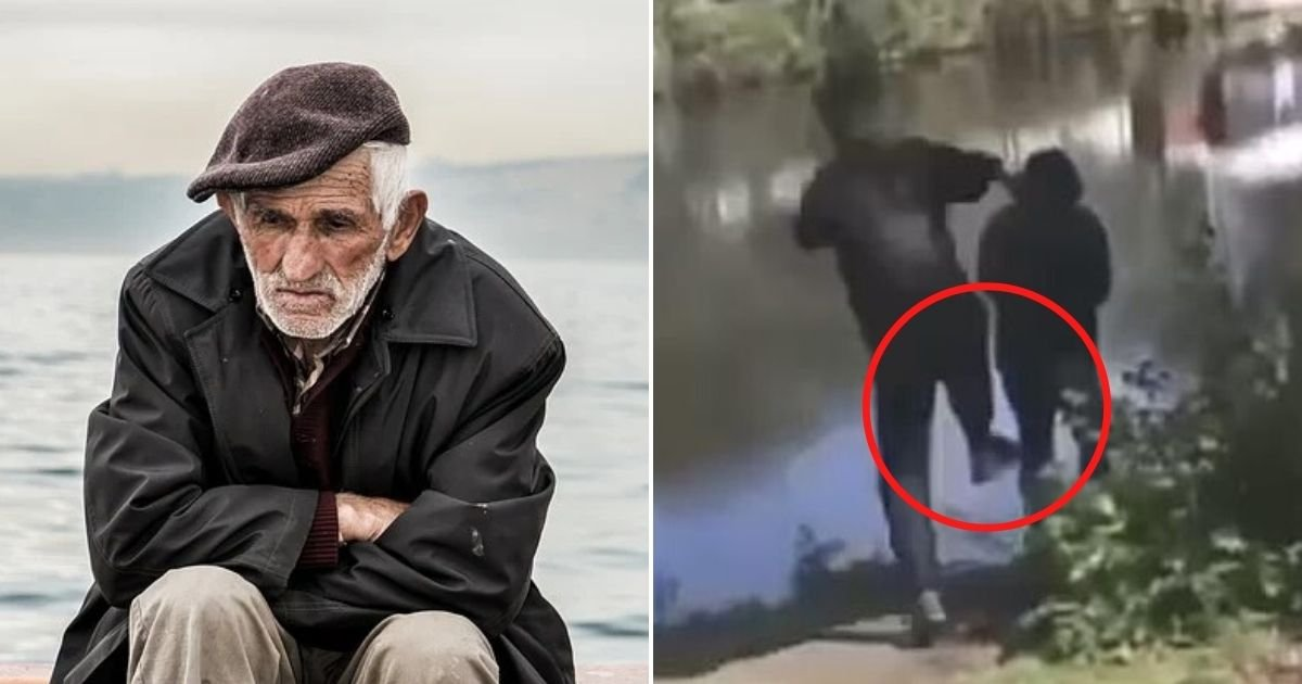 untitled design 3 4.jpg?resize=1200,630 - Sickening Moment 74-Year-Old Man Is Pushed Into Freezing River By A Gang Of Teen Schoolboys