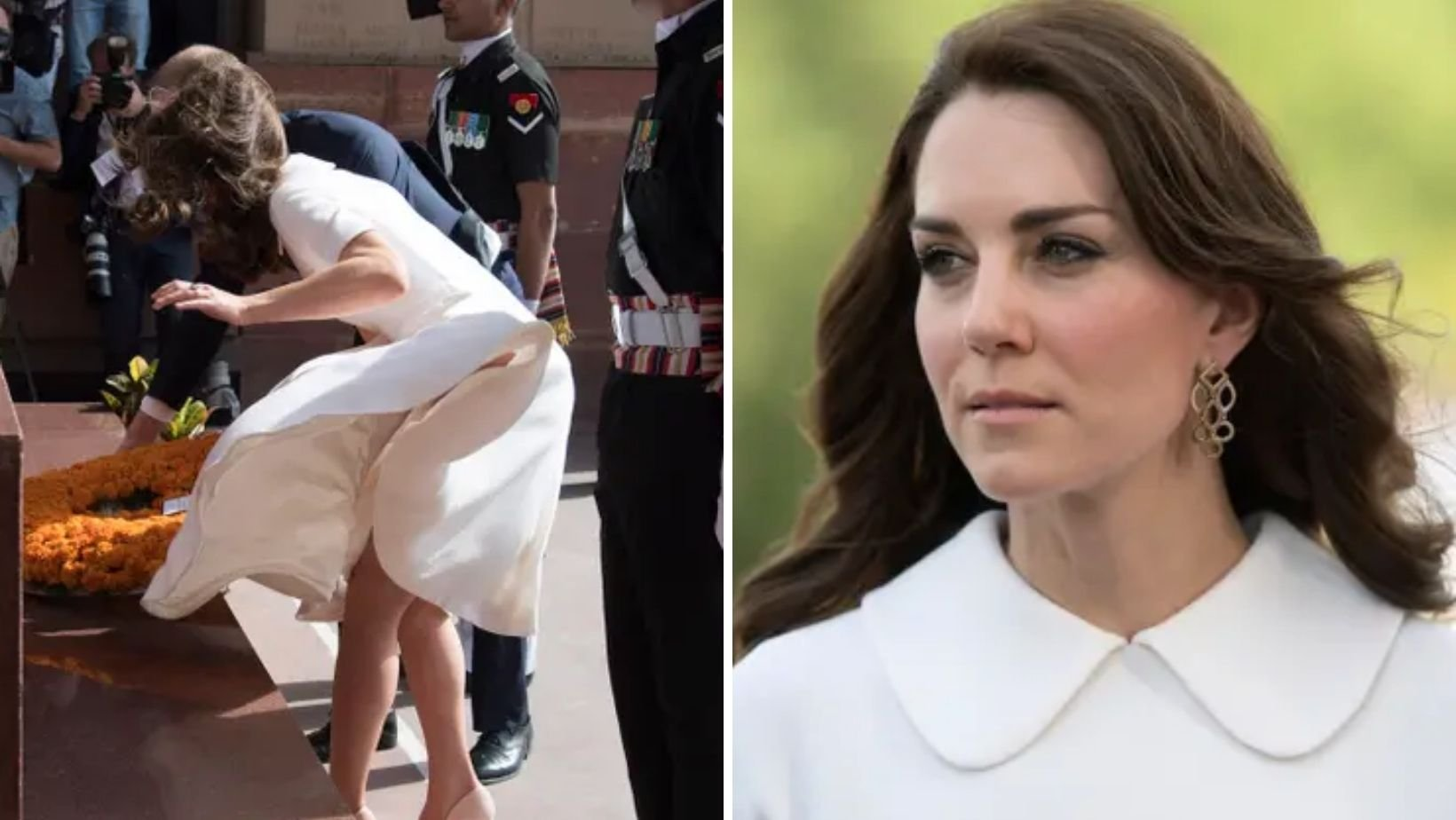 1 18.jpg?resize=1200,630 - Kate Middleton Had Serious Wardrobe Fail After The Wind Blew Her Dress Up During Tour