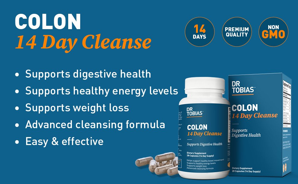 Dr. Tobias Colon: 14 Day Quick Cleanse - 28 Capsules in Moscow, Saint Petersburg and all Russian Cities - GoSupps.com