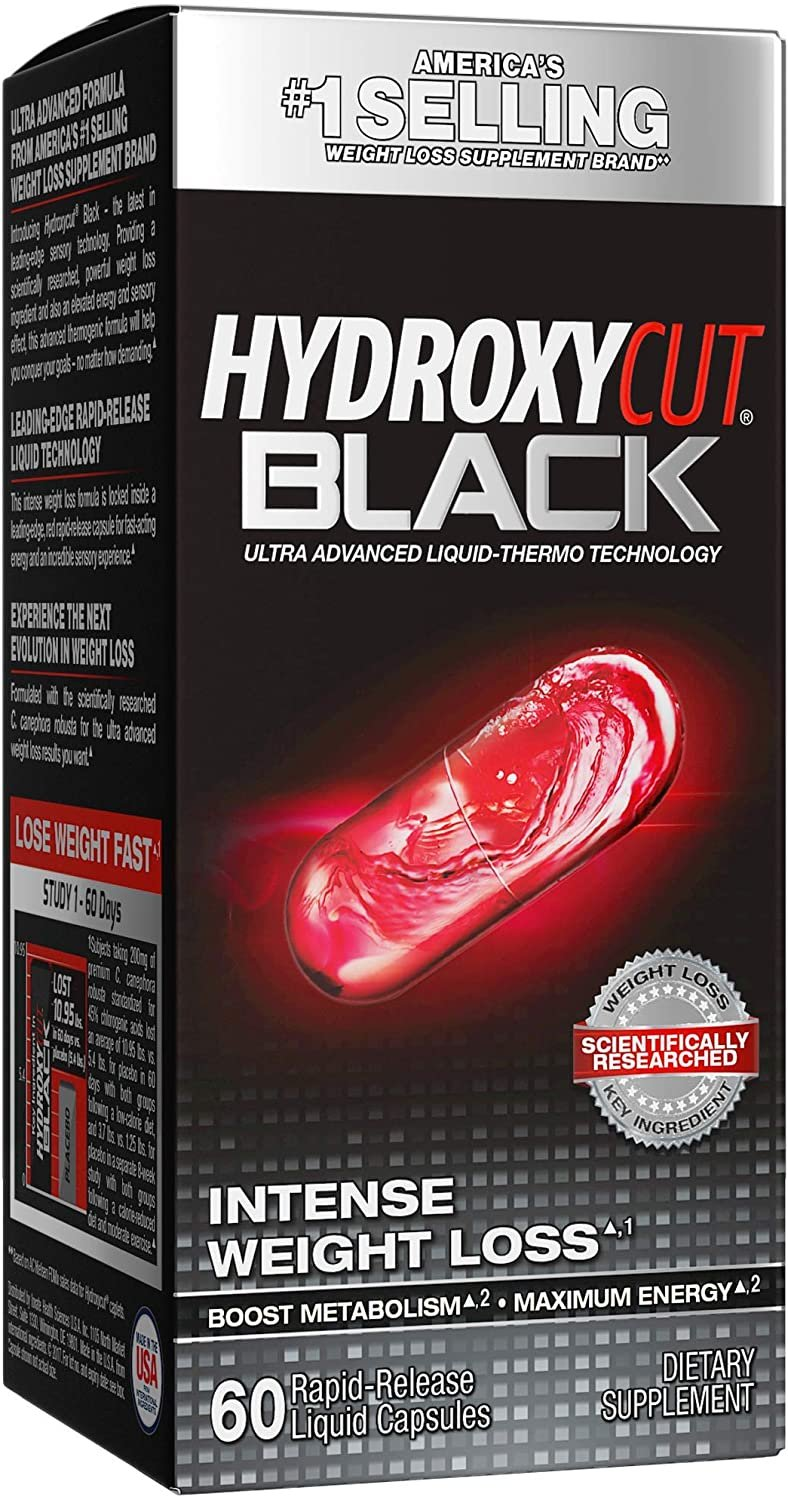 Amazon.com: Weight Loss Pills for Women & Men | Hydroxycut Black | Weight Loss Supplement Pills | Energy Pills to Lose Weight | Metabolism Booster for Weight Loss | Weightloss & Energy