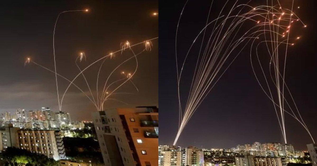 """a0583fad b638 47c1 9b95 ebb9013b2f4f.jpeg?resize=1200,630 - """"저거 떨어지면 다 죽는데 저걸 '다' 막네""""…적국 미사일 공격 100% 차단하는 이스라엘 하늘 모습 (+영상)"""