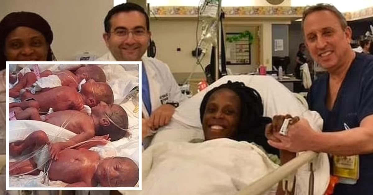 babies4.jpg?resize=1200,630 - Woman Gives Birth To 9 Babies After Doctors Missed Two On Her Previous Scans – All Four Boys And Five Girls Are 'Doing Fine'