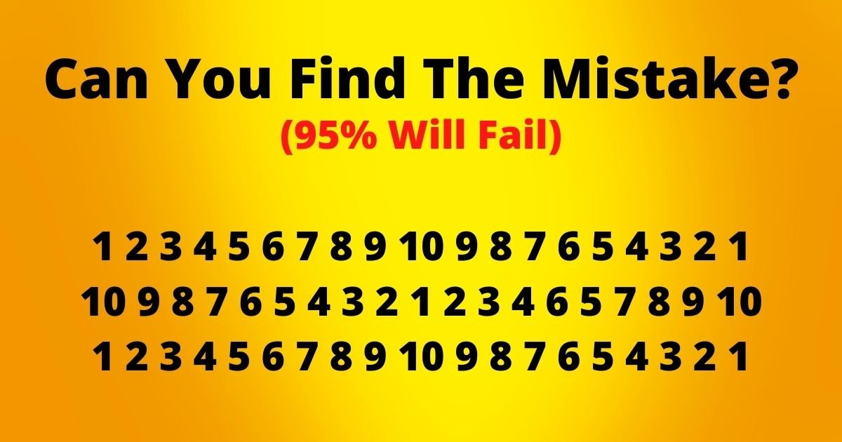 can you find the mistake.jpg?resize=412,232 - Can You Spot The Mistake In This Viral Challenge? 95% Of People Fail To See What's Wrong With This Picture