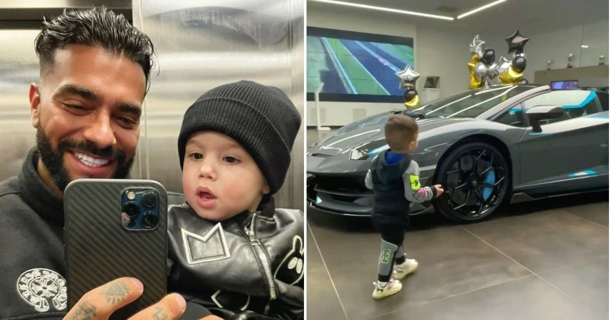 car5 1.jpg?resize=412,232 - Dad Gifts Two-Year-Old Son A Lamborghini But Critics Say He Shouldn't Spoil His Child
