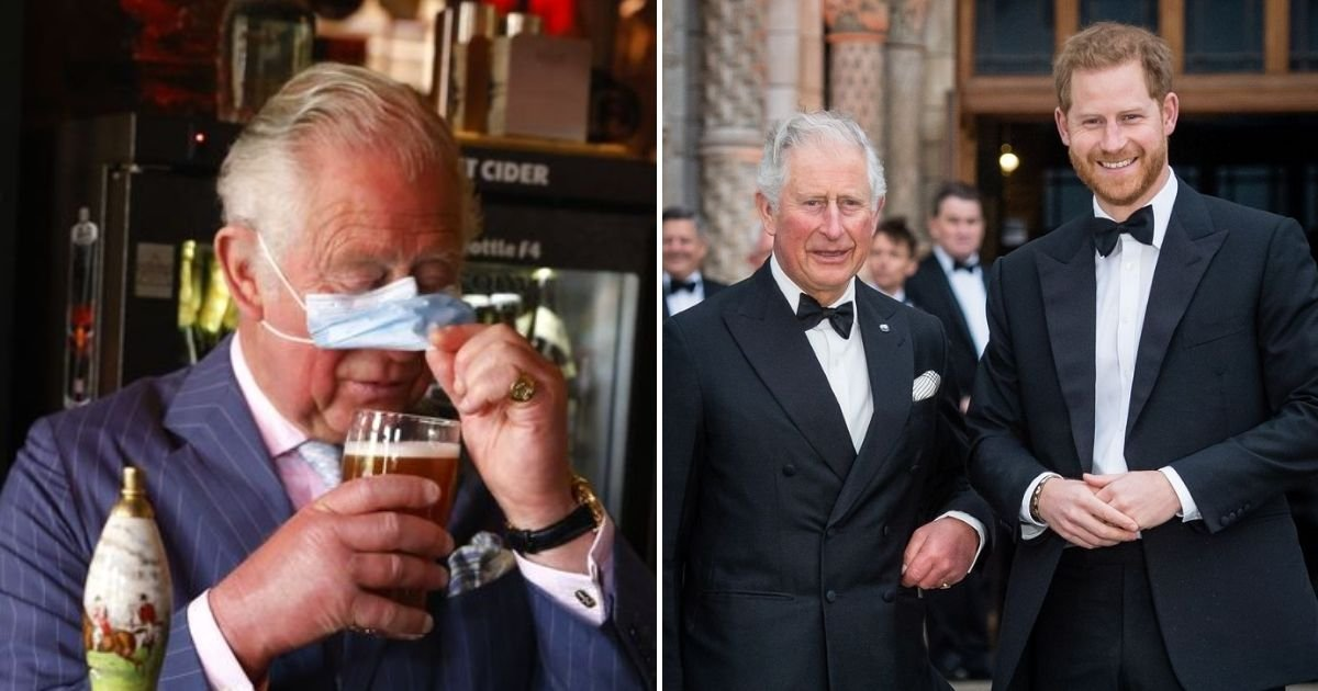 charles5.jpg?resize=412,232 - Prince Harry's Father Laughs Off His Remarks As He Struggles To Drink A Glass Of Beer