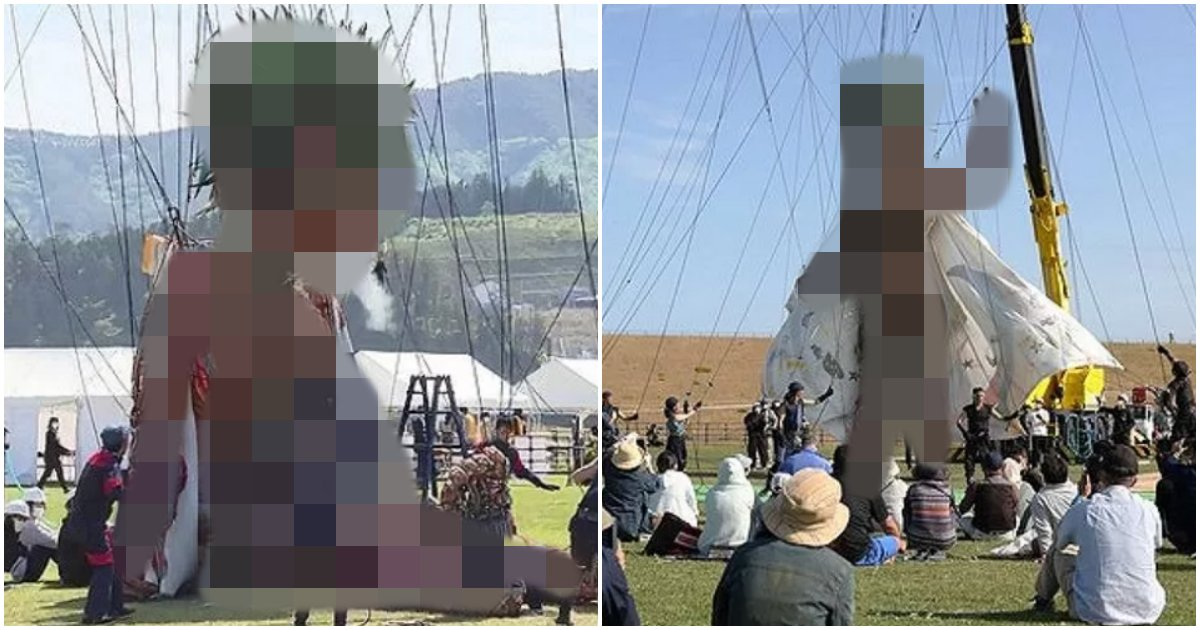 "collage 282.png?resize=1200,630 - ""진격의 거인 실사판…?""… 일본이 도쿄 올림픽 성공 기원하며 만든 거대 인형의 정체 (+사진)"