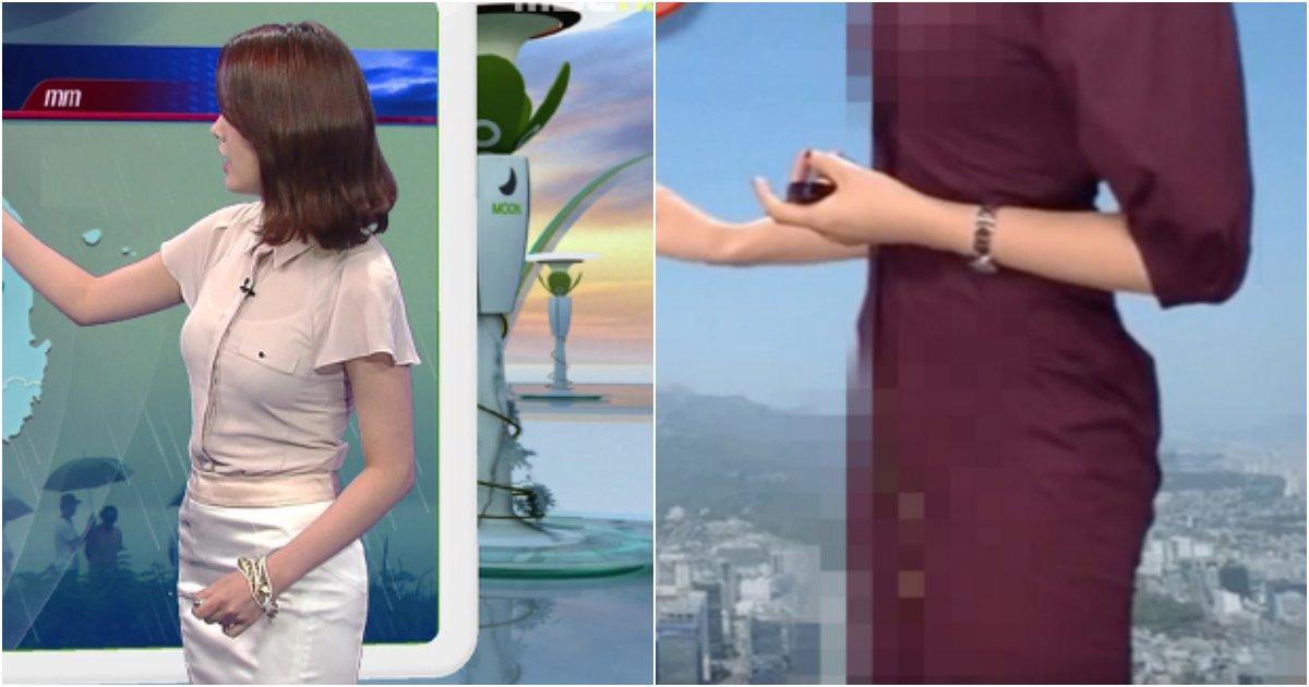 collage 79.png?resize=412,275 - 요즘따라 기상캐스터들이 몸이 다 드러나는 타이트한 옷만 입는 이유 (사진)