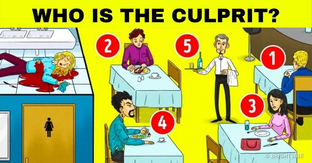 culprit3.jpg?resize=1200,630 - There Are Five Suspects: How Fast Can You Figure Out Who Is The Culprit?