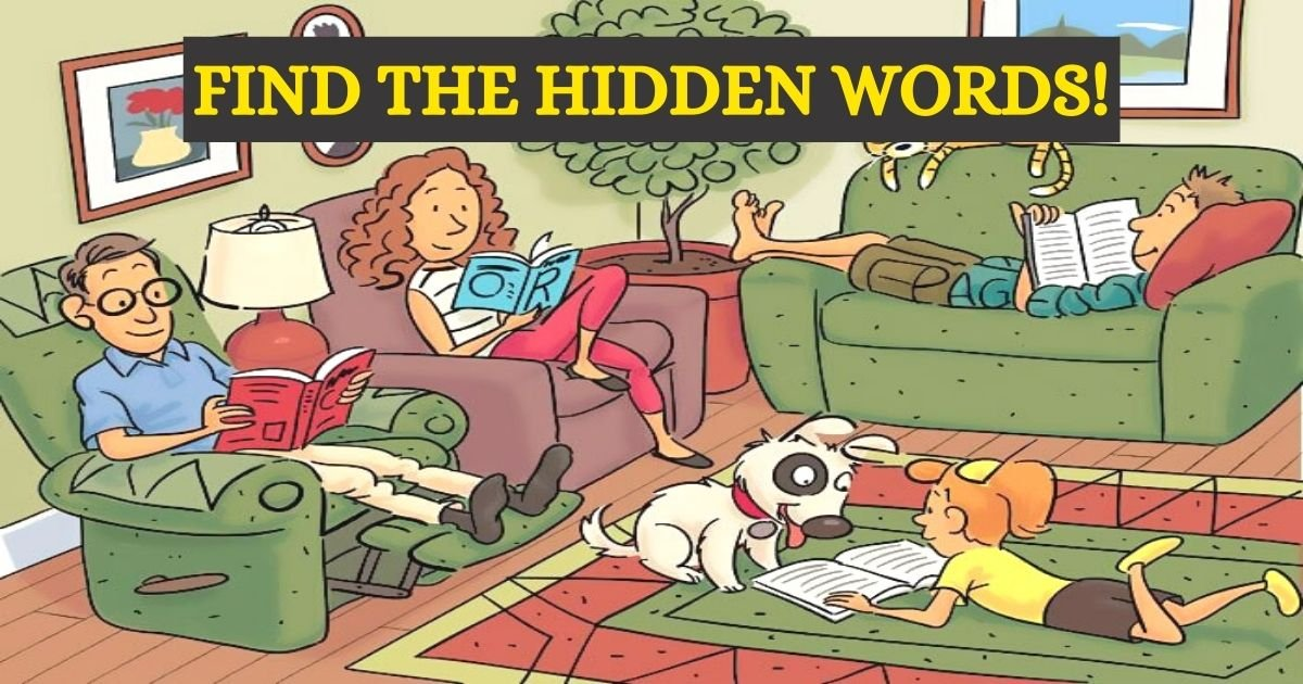 find the hidden words.jpg?resize=1200,630 - How Fast Can You Find All SIX Words Hidden In This Picture Of A Family