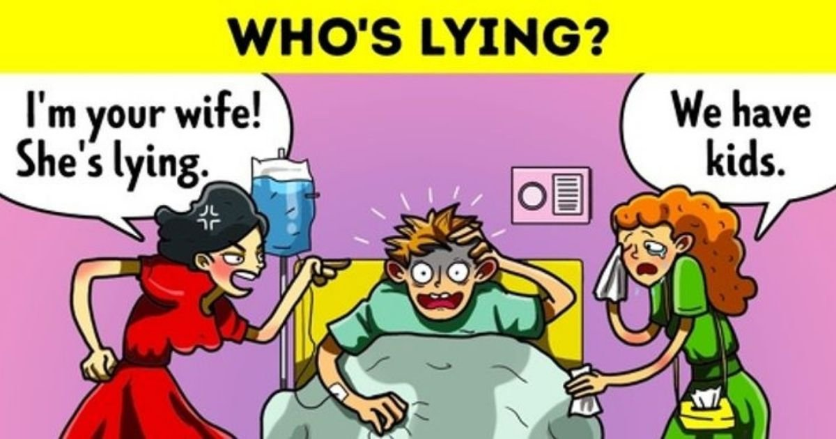 lying3.jpg?resize=1200,630 - Two Women And A Man With Amnesia: How Fast Can You Figure Out Who's Lying?