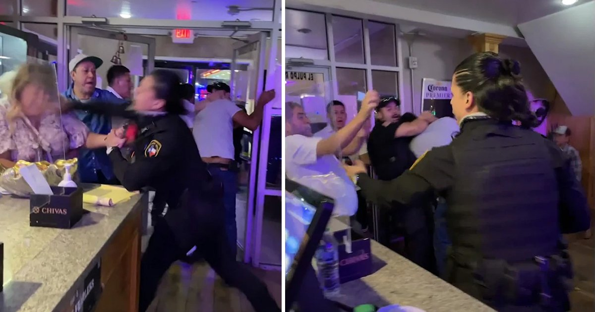 t3 13.jpg?resize=1200,630 - Wild Video Shows Restaurant Security Guard Unleashing 'Martial Arts' Moves Against Male & Female Diners In Texas