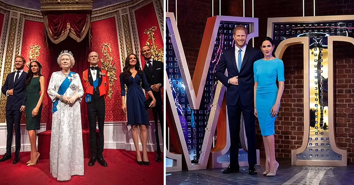 t5 2.jpg?resize=1200,630 - Prince Harry & Meghan Markle's Wax Statues SEPARATED From Royal Family At Madame Tussauds
