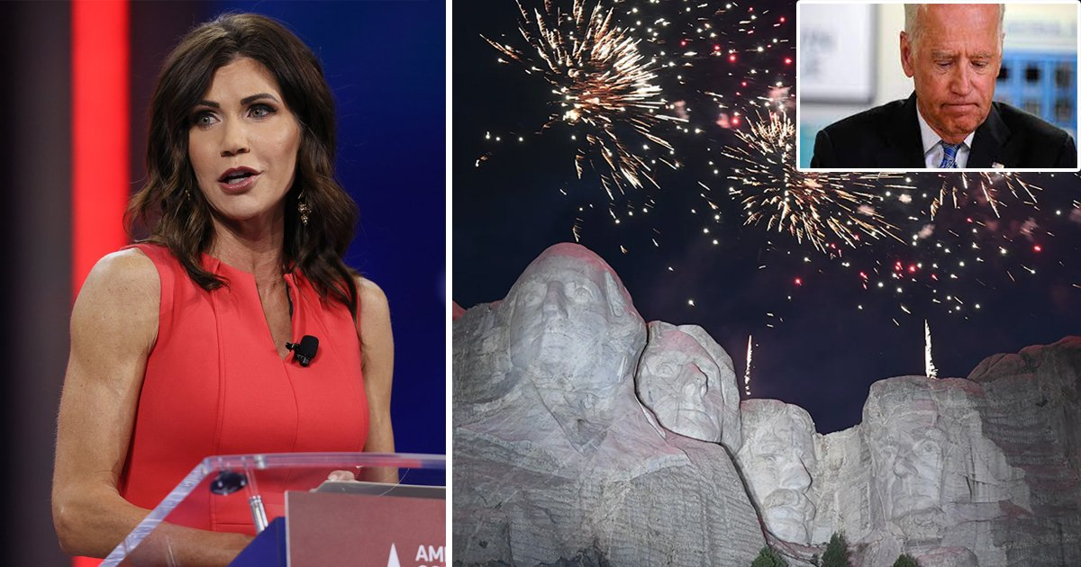 t6 5.jpg?resize=1200,630 - South Dakota's Governor SUES Biden Administration For CANCELING Independence Day Fireworks At Mount Rushmore