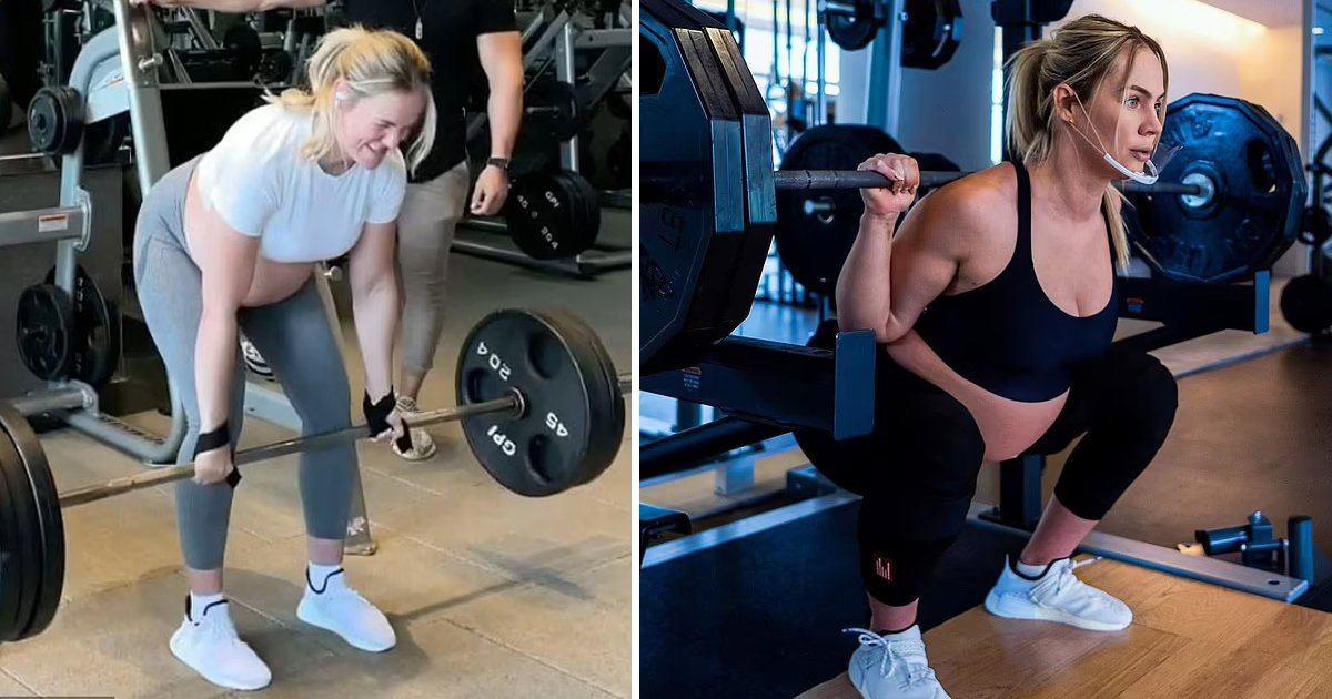 t7 19 1.jpg?resize=412,232 - Pregnant Fitness Star Leaves Viewers HORRIFIED After Dead-Lifting '315 LBS' Before Due Date