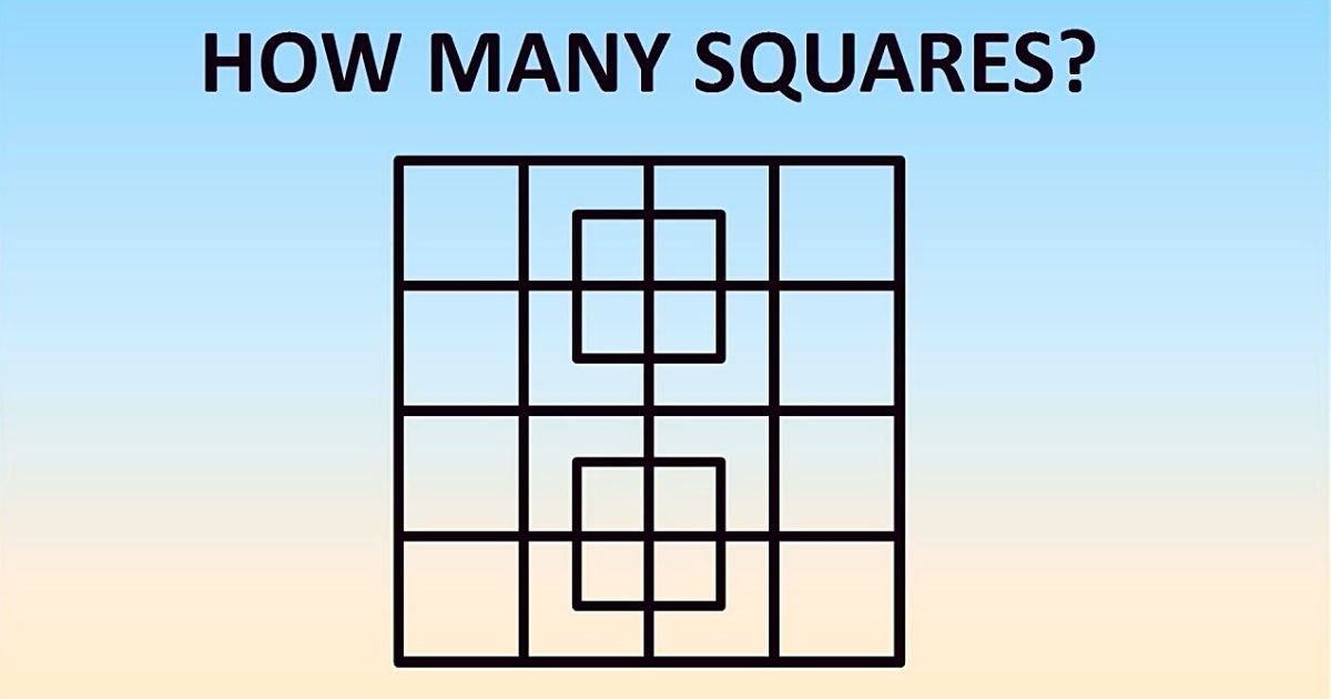 untitled design 9 2.jpg?resize=1200,630 - How Many Squares Can You Spot In This Viral Challenge? Only 1% Of People Can Find ALL Of The Squares