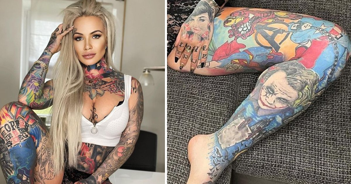 w2 9.jpg?resize=1200,630 - Mum Fulfills Superhero-Crazy Son's Demands By Getting Inked With £50K Marvel & DC Tattoos