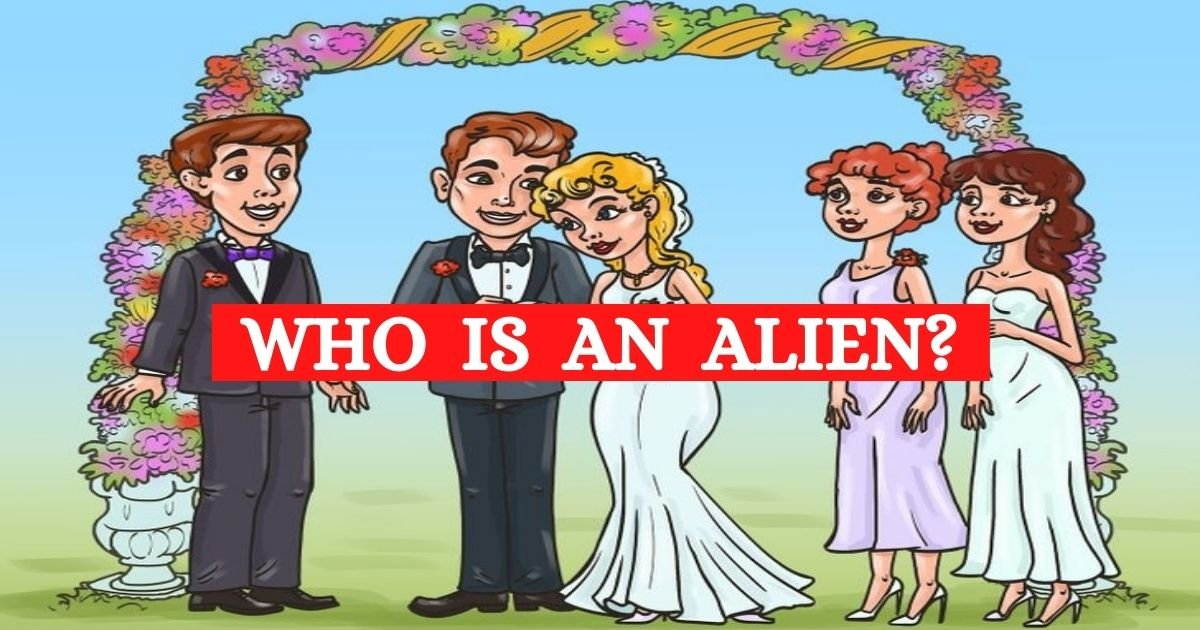 who is the alien.jpg?resize=412,232 - Can You Find Out Who Is The Alien In This Wedding Picture? Take A Close Look To Solve The Mystery!