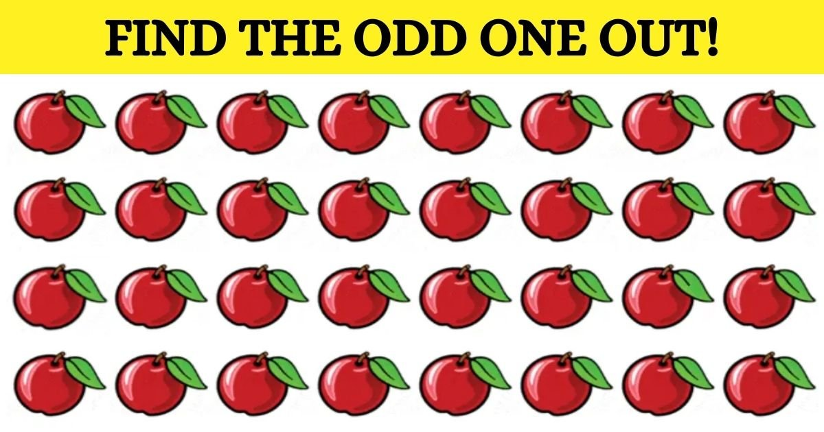 1 84.jpg?resize=412,232 - Can You Find The Odd One Out? One Of These Apples Is Different And Most People Can't See Why!