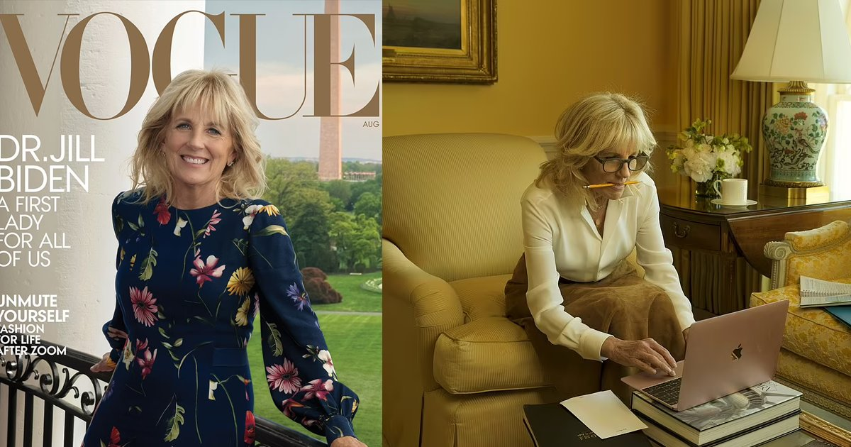 biden 12.png?resize=412,275 - Jill Biden TAKES Melania Trump's Dream And Lands The Cover Of Vogue Magazine