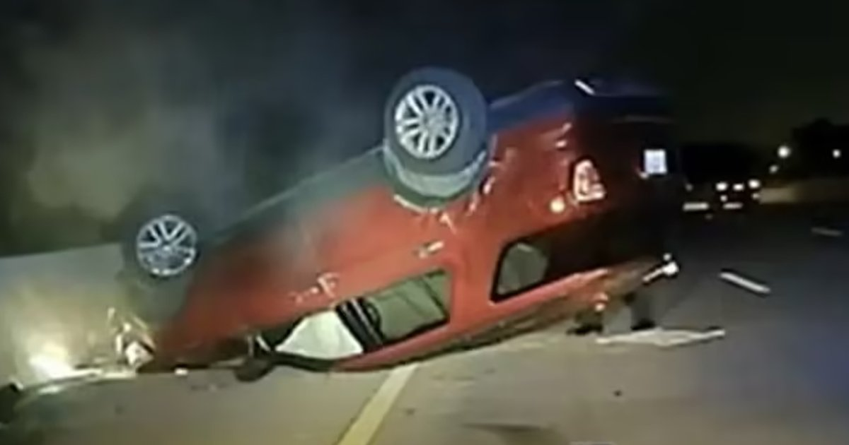 carpng.png?resize=1200,630 - Pregnant Woman's Car Is FLIPPED OVER By Police Car Because She Didn't Pull Over For Two Minutes