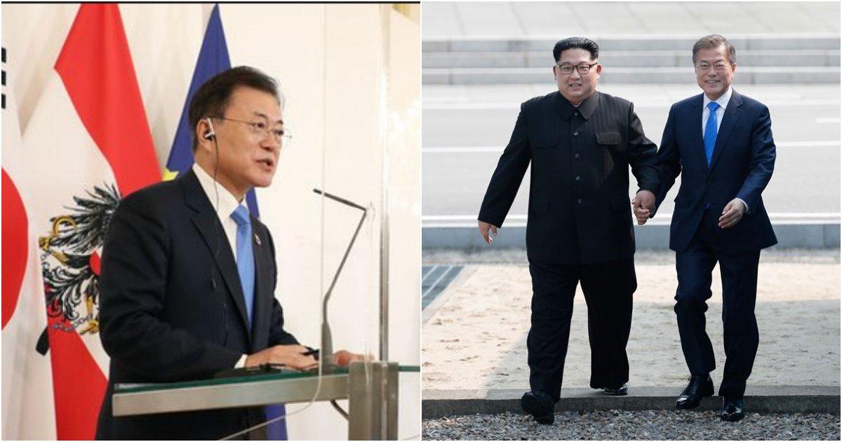 "collage 263.png?resize=412,232 - ""국민들은??"" 오스트리아에서 북한과 관련해서 한 국민들이 반대하는 발언한 문 대통령"