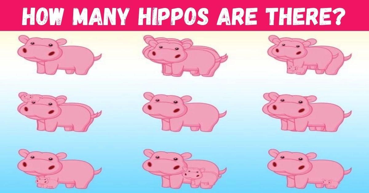 how many hippos are there 1.jpg?resize=412,232 - How Many Hippos Are Hiding In This Picture? 99% Of People CAN'T Spot All Of Them!