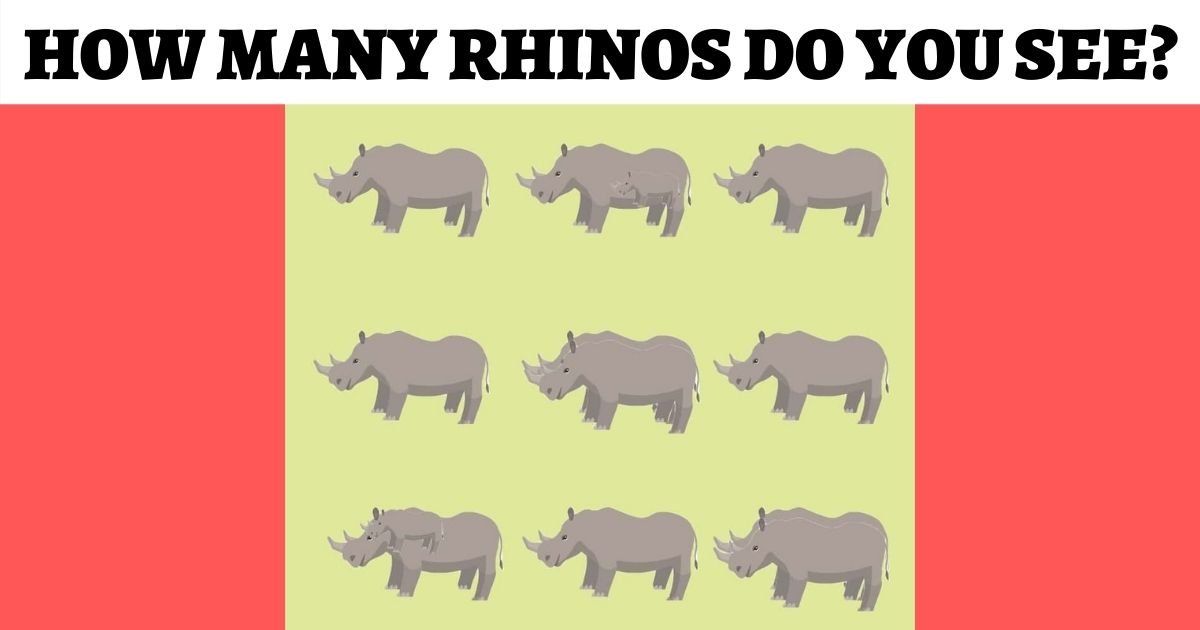 how many rhinos do you see.jpg?resize=1200,630 - How Many Rhinos Are Hiding In This Picture? Only 5% Of People Can Spot Them All!