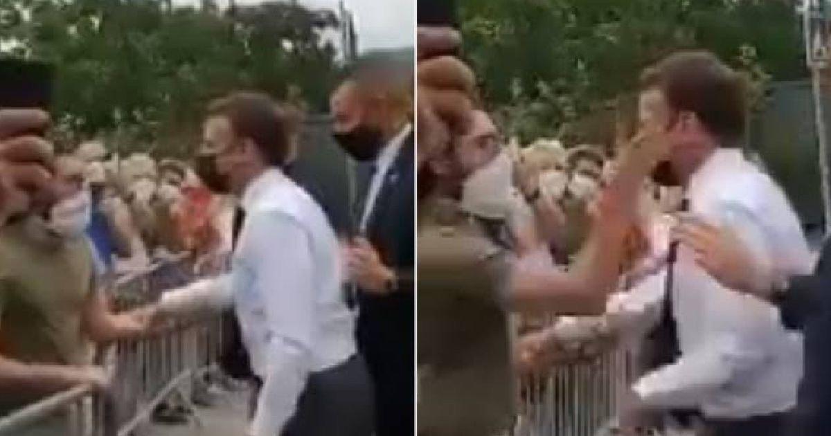 img 8660.jpg?resize=1200,630 - Just In: French President Emmanuel Macron SLAPPED In Face By Member Of Public