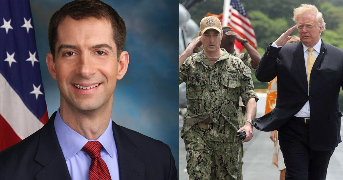 """military 1.png?resize=1200,630 - Senator Tom Cotton Claims That """"Racism In The US Military Did NOT Exist"""" Before Biden Era"""