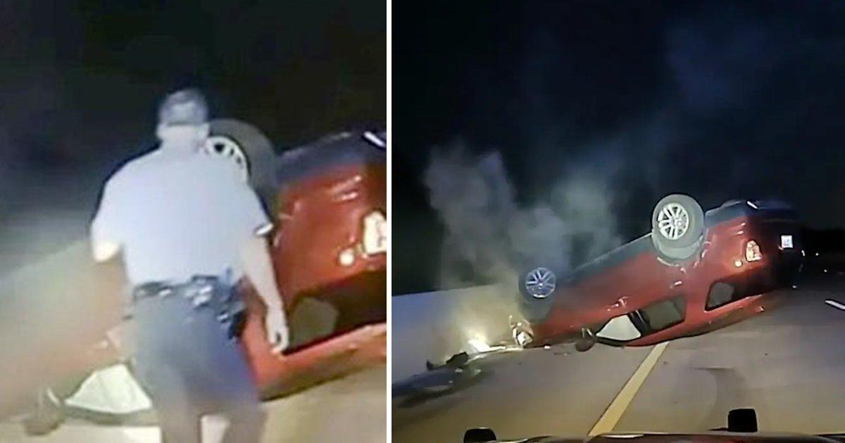 q1 11.jpg?resize=1200,630 - Tragic New Patrol Footage Shows Cops FLIPPING Pregnant Woman's Car In Arkansas