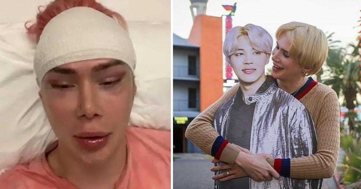 q1 25.jpg?resize=412,232 - Transracial Influencer Undergoes '18 Cosmetic Surgeries' To Look Like Popular BTS Singer